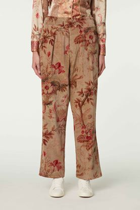 Picture of Red and Brown Floral Print Pants