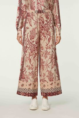 Picture of Red and Beige Floral Print Pants