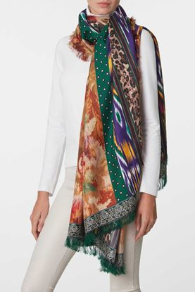 Picture of Multicolour Geometric Floral Print Scarf