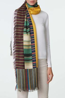 Picture of Multicolour Stripe Floral Print Scarf