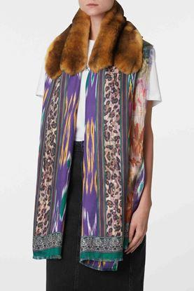 Picture of Multicolour Floral Fur Scarf