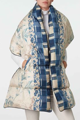 Picture of Blue and White Floral Print Padded Scarf