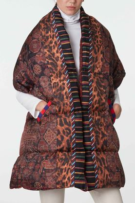 Picture of Multicolour Geometric Print Padded Scarf
