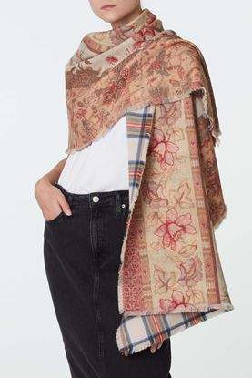 Picture of Red Floral Print Scarf