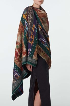 Picture of Multicolour Leopard and Floral Print Scarf