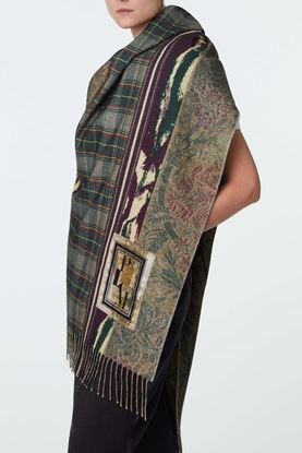 Picture of Multicolour Floral and Check Print Scarf