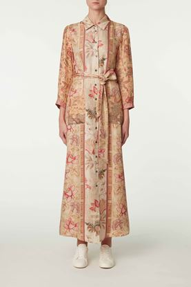 Picture of Red and Beige Floral Print Dress