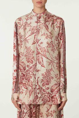 Picture of Multicolour Floral Print Silk Shirt