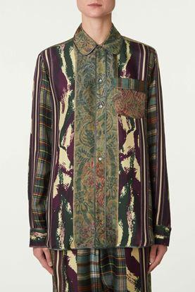 Picture of Multicolour Mix Print Silk Shirt