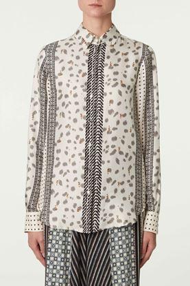 Picture of Multicolour Paisley Print Silk Shirt