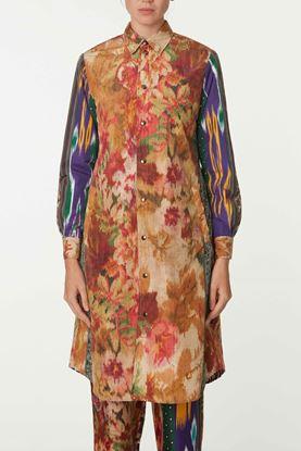 Picture of Multicolour Print Long Jacket