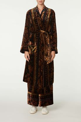 Picture of Brown Vintage Floral Dressing Gown