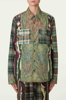 Picture of Multicolour Floral and Check Print Shirt