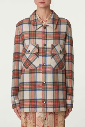 Picture of Multicolour Check Print Jacket