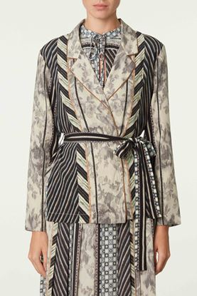 Picture of Multicolour Geometric Floral Print Jacket