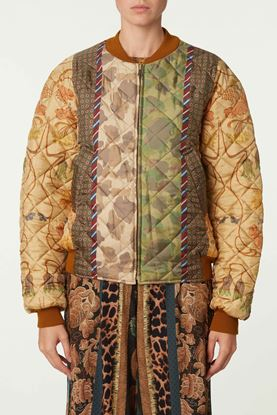 Picture of Multicolour Mix Print Bomber Jacket