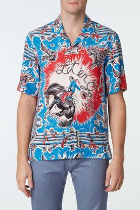 Picture of Multicolour Cowboy Print Shirt