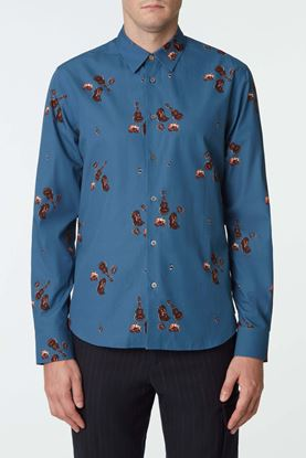 Picture of Blue Cowboy Boot Print Shirt