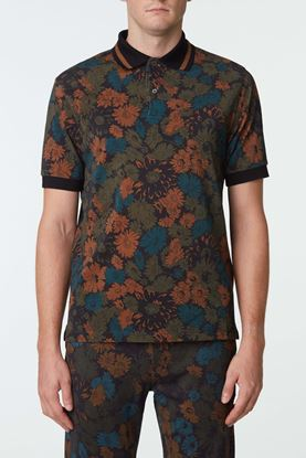 Picture of Multicolour Floral Print Polo Shirt