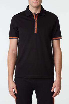 Picture of Black Stripe Polo Shirt