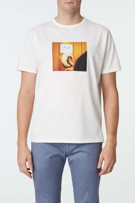 Picture of White Doorbell Print T-Shirt