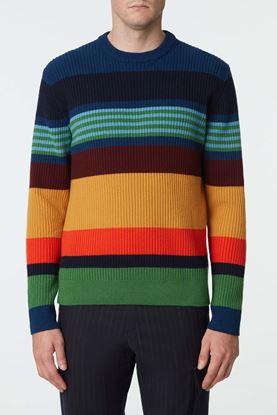 Picture of Multicolour stripe knit sweater