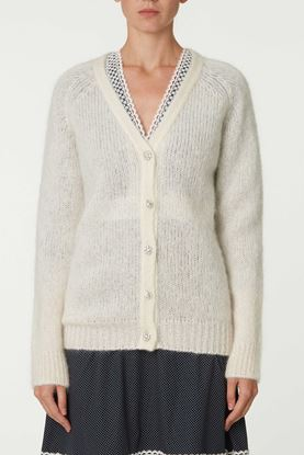 Picture of White Jewel Button Cardigan