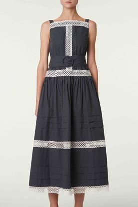 Picture of Grey Polka Dot Sleeveless Dress