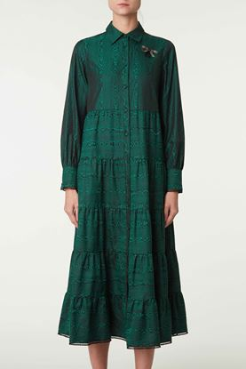 Picture of Green Wood Grain Effect Dress
