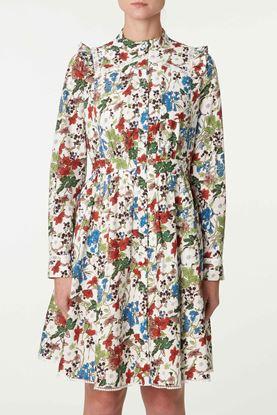 Picture of White Multicolour Floral Print Dress