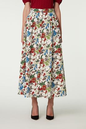 Picture of Multicolour Floral Print Skirt