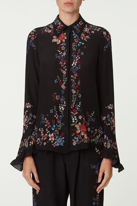 Picture of Black Floral Print Blouse