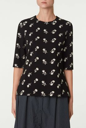 Picture of Black and White Floral Top