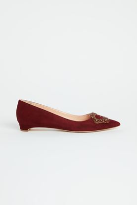 Picture of Red Crystal Buckle Flats