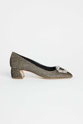 Picture of Gold Glitter Heels 50mm