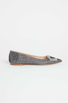 Picture of Silver Felix Cotton Heels 10mm