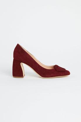 Picture of Burgundy Suede Heels 80mm