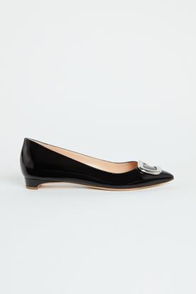 Picture of Black Patent Leather Pebble Heels 10mm