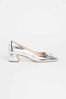 Picture of silver patent leather Heels 50mm