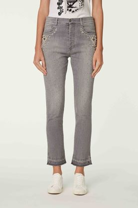 Picture of Grey Crystal Embellishment Jeans