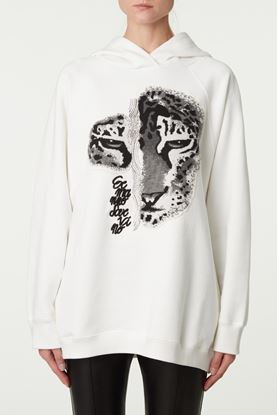 Picture of White Tiger Print Hoodie
