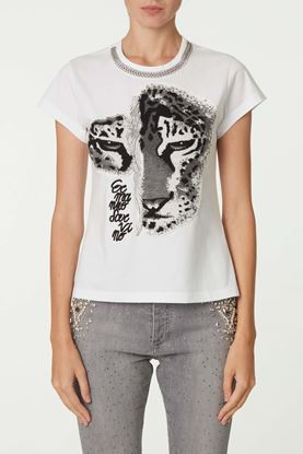 Picture of White Tiger Print T-Shirt