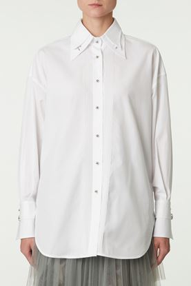 Picture of White Double Point Collar Shirt