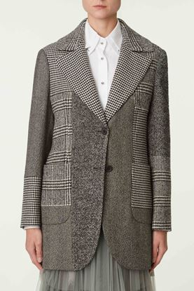 Picture of Grey Patchwork Wool Blazer