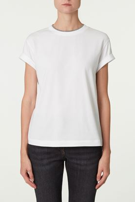 Picture of White Monili Trim Jersey Top