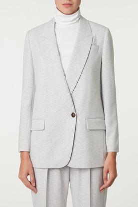 Picture of Grey Fleece Jersey Blazer