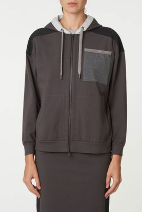 Picture of Multicolour Blocking Hood Jacket
