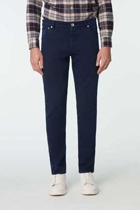 Picture of Navy Cotton Jeans