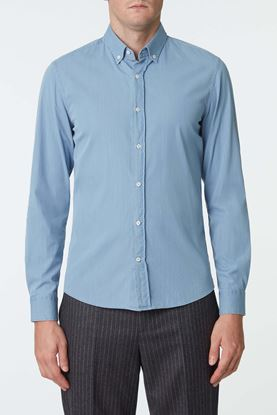 Picture of Blue Cotton Chambray Shirt