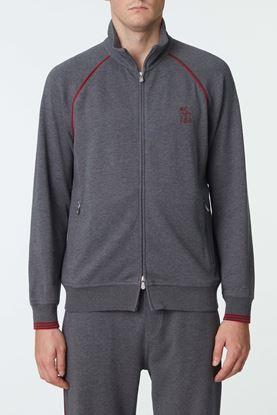 Picture of Grey Cotton Zip Up Jacket